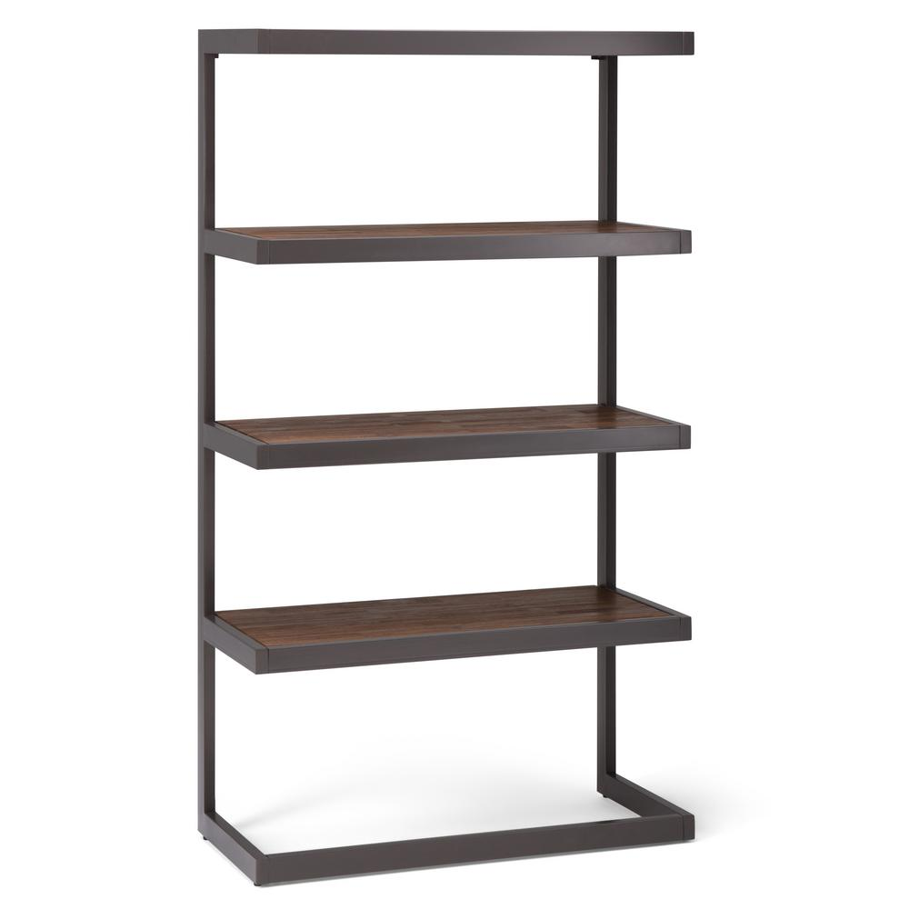Simpli Home Erina Rustic Natural Aged Brown Bookcase