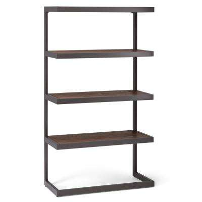 Erina Rustic Natural Aged Brown Bookcase