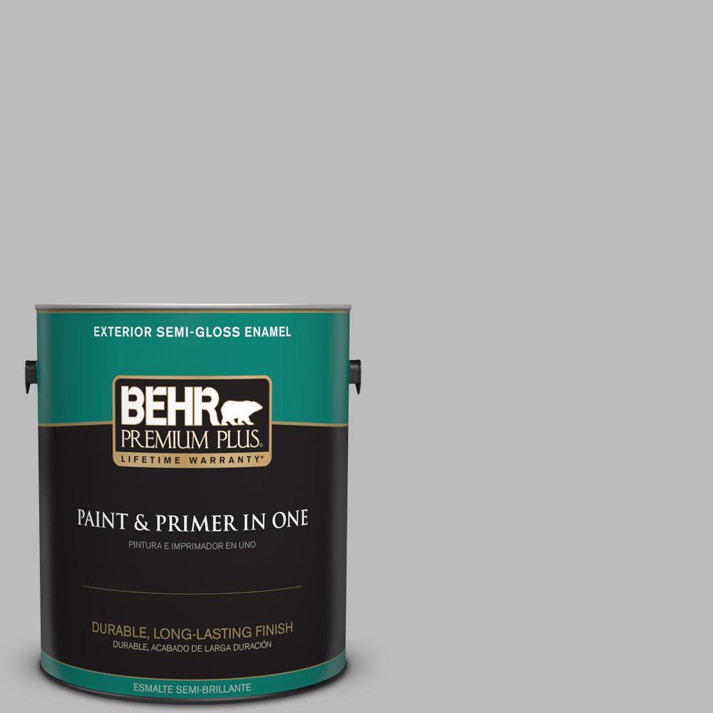1 gal. #PPU16-11 Grape Creme Semi-Gloss Enamel Exterior Paint