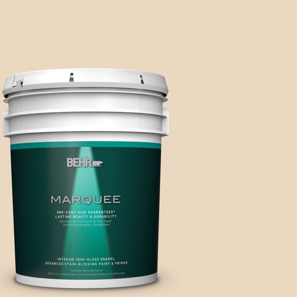 5 gal. #HDC-WR15-8 Steamed Milk Semi-Gloss Enamel Interior Paint