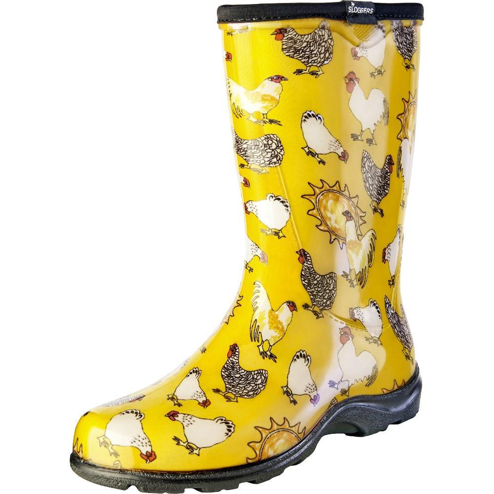 Sloggers Size 8 Yellow Daffodil En Women S Rain And Garden Boot