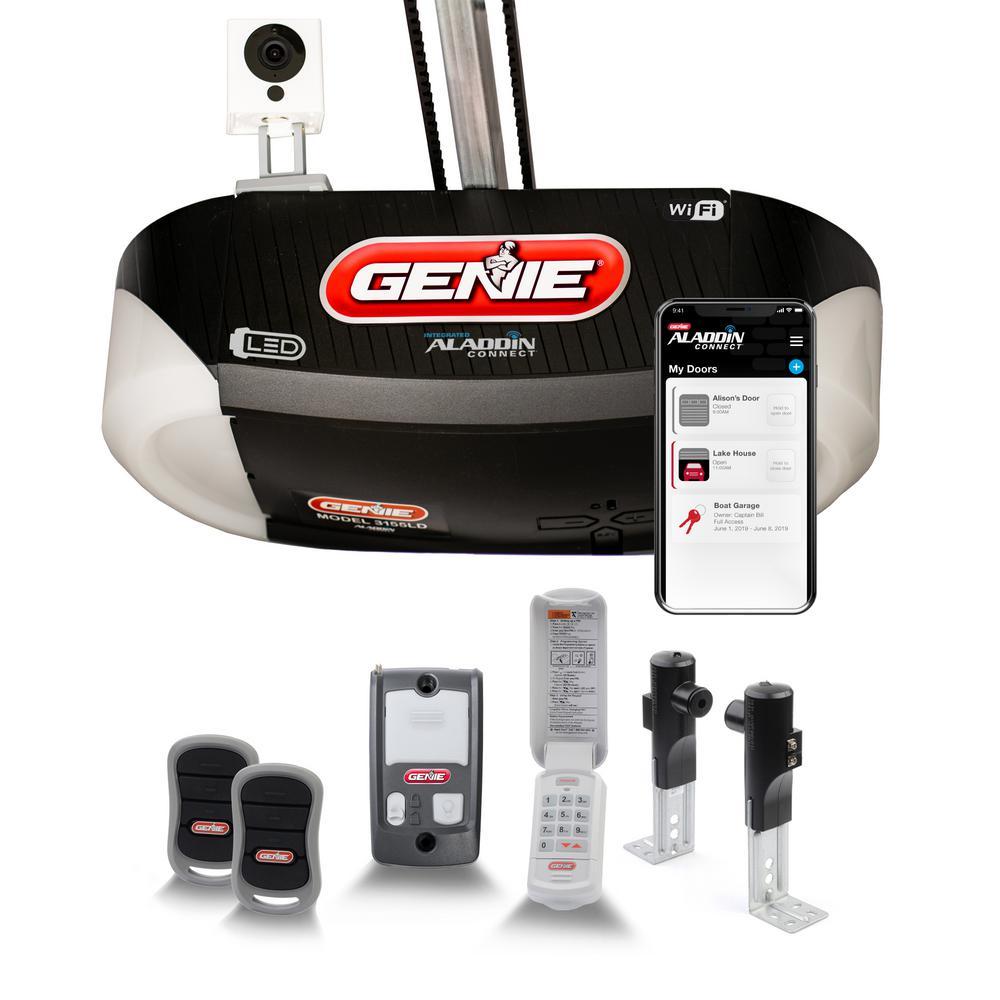 SilentMax LED Connect Smart Bundle 1-1/4 HPc Ultra-Quiet Belt Drive Smart Garage Door Opener with LED and Wyze Camera