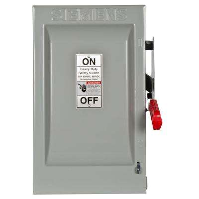 Heavy Duty 60 Amp 600-Volt 3-Pole Indoor Fusible Safety Switch with Neutral