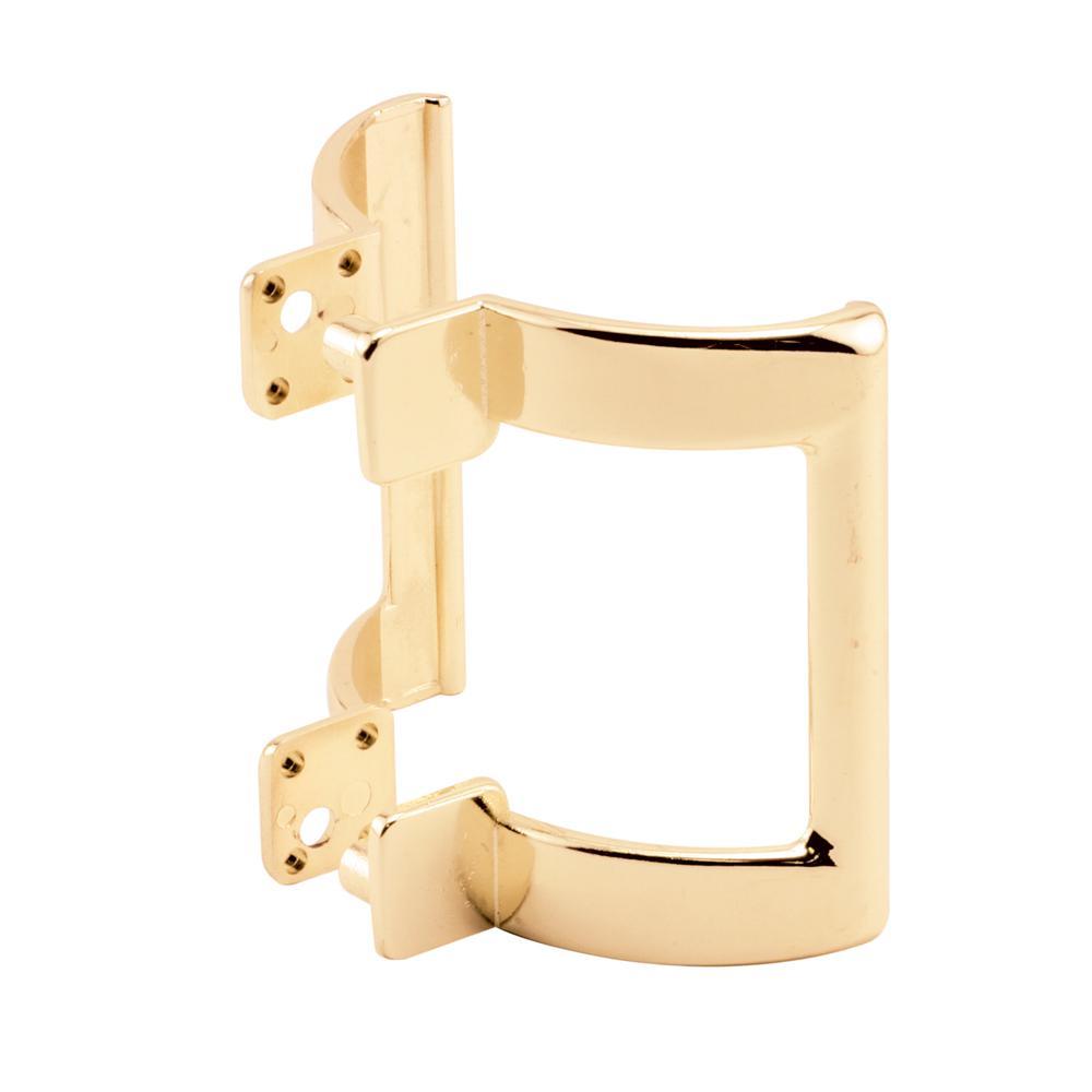 2 in. Brass Shower Door Handle Set