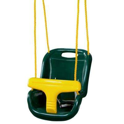 Green Infant Swing with High Back