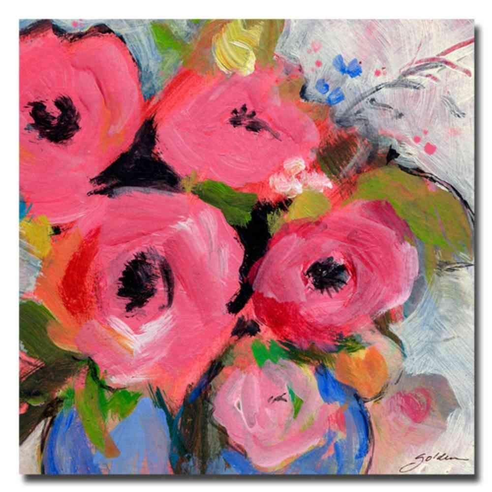 Trademark Fine Art 18 in. x 18 in. Bouquet in Pink Canvas Art