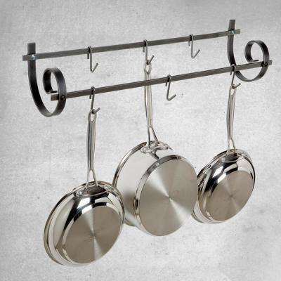 Hammered Steel Wall Mounted Decor Utensil Rack
