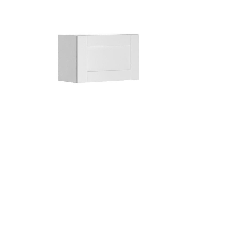 Dublin Ready to Assemble 24x15x12.5 in. Oxford Wall Thermofoil Cabinet with