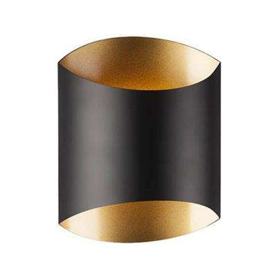 Oxford 60-Watt Equivalence Black Integrated LED Sconce