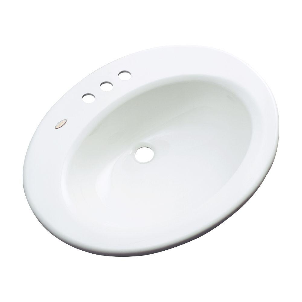 Thermocast Tierra Drop-In Bathroom Sink in White