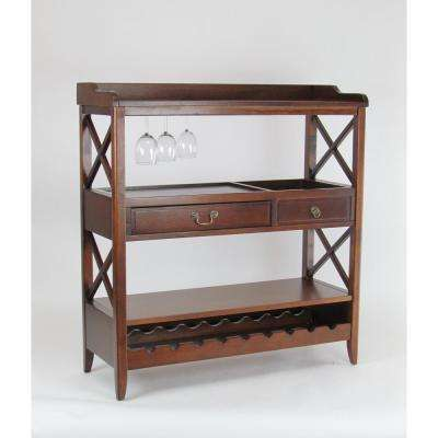 Brown Eiffel Console Serving Cart