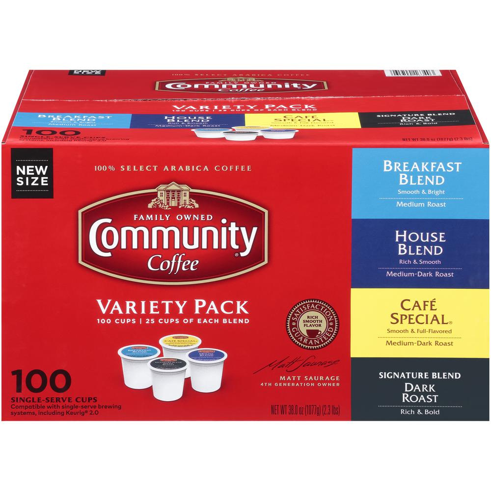 Community Coffee Variety Pack Single Serve Cups (100-Pack)