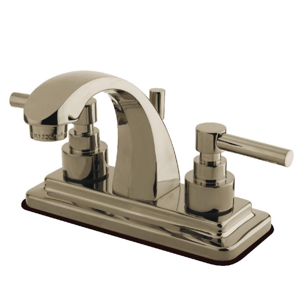 Elinvar 4 in. Centerset 2-Handle Bathroom Faucet in Brushed Nickel