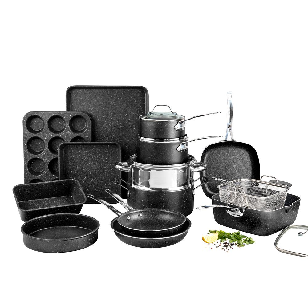 Granite Stone Diamond Blue 20 Piece All In One Kitchen Cookware and Bakeware