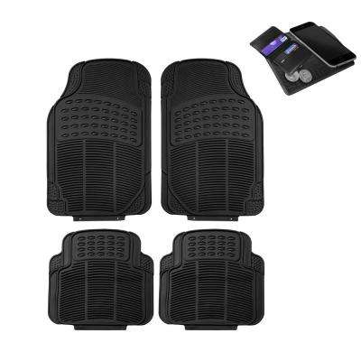Fh Group 29 In X 18 In X 2 In Durable Heavy Duty Rubber Car Floor Mats 4 Pieces Dmf11305black The Home Depot