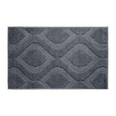 Mia Gun Metal 17 in. x 24 in. Bath Mat