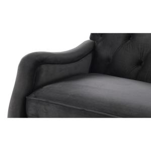 Awesome Jennifer Taylor Xander Dark Charcoal Grey Tufted Sofa 63580 Pabps2019 Chair Design Images Pabps2019Com