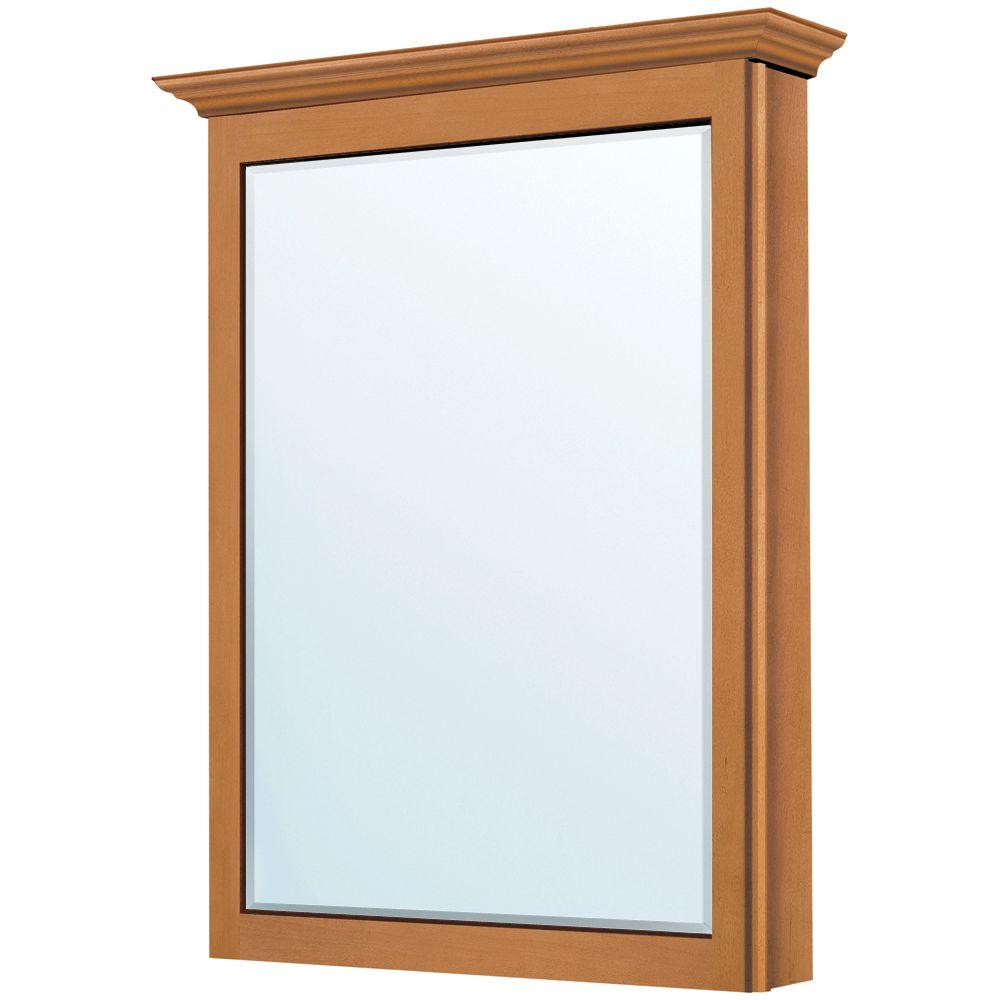 MasterBath 22-3/4 in. x 30-1/3 in. Surface-Mount Medicine Cabinet in Cinnamon