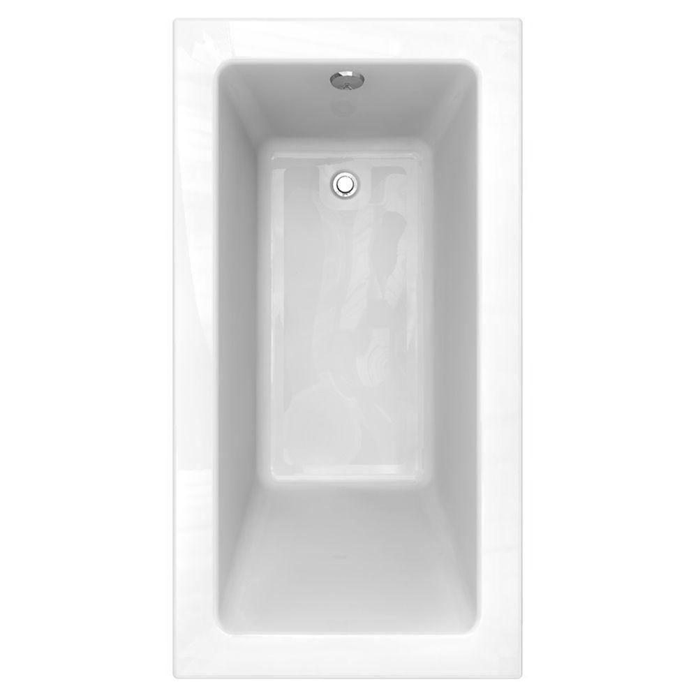Studio 5 ft. Reversible Drain Bathtub with Zero Edge Profile in
