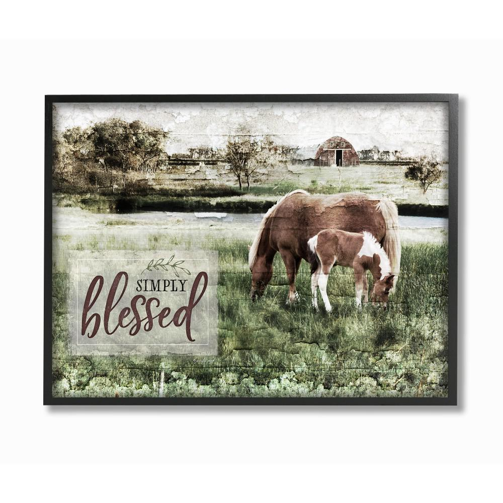 16x20 Horses in Pasture Wall Decor Poster Farm Animal Art Print Picture