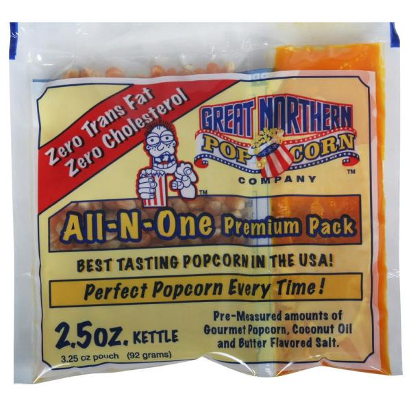 Great Northern 2.5 oz. Premium Quality Popcorn Portion Packs (80-Packs)