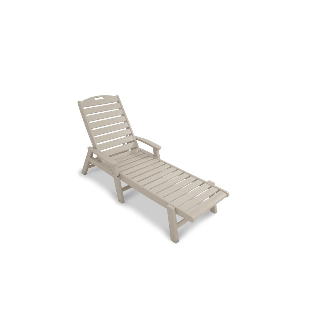 Trex Outdoor Furniture Yacht Club Sand Castle Patio Stackable Chaise