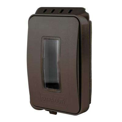 Bronze 1-Gang Extra Duty Non-Metallic Low Profile While-In-Use Weatherproof Horizontal/Vertical Receptacle Cover