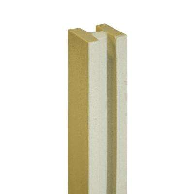 5 in. x 5 in. x 8-1/2 ft. Beige Composite Fence Line Post
