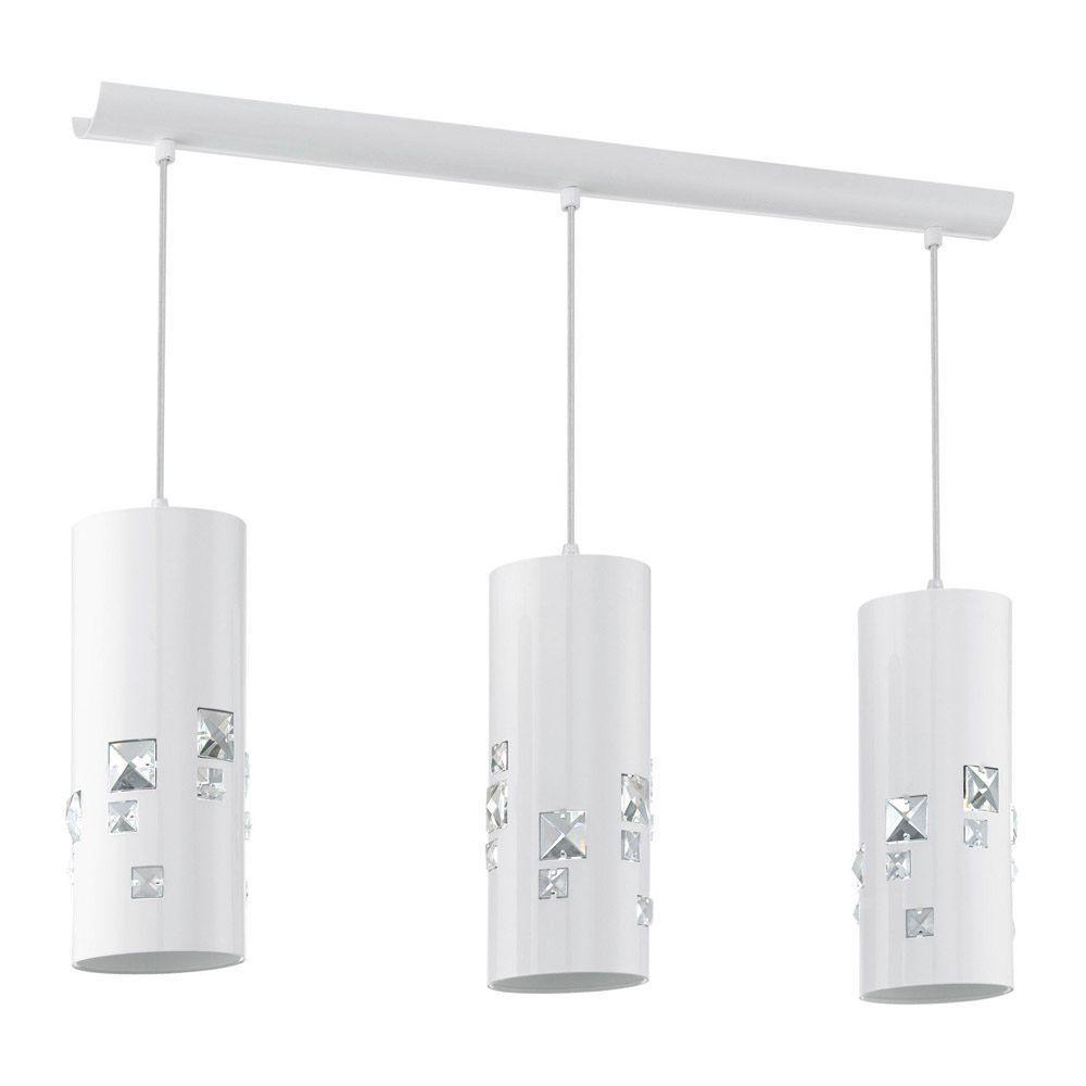 EGLO Pigaro 3-Light Shiny White Ceiling Pendant