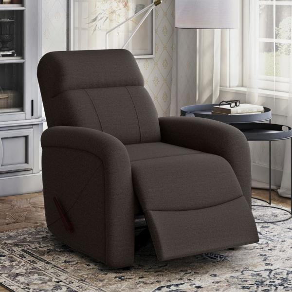 ProLounger Rocker Recliner and Power in Chocolate Brown