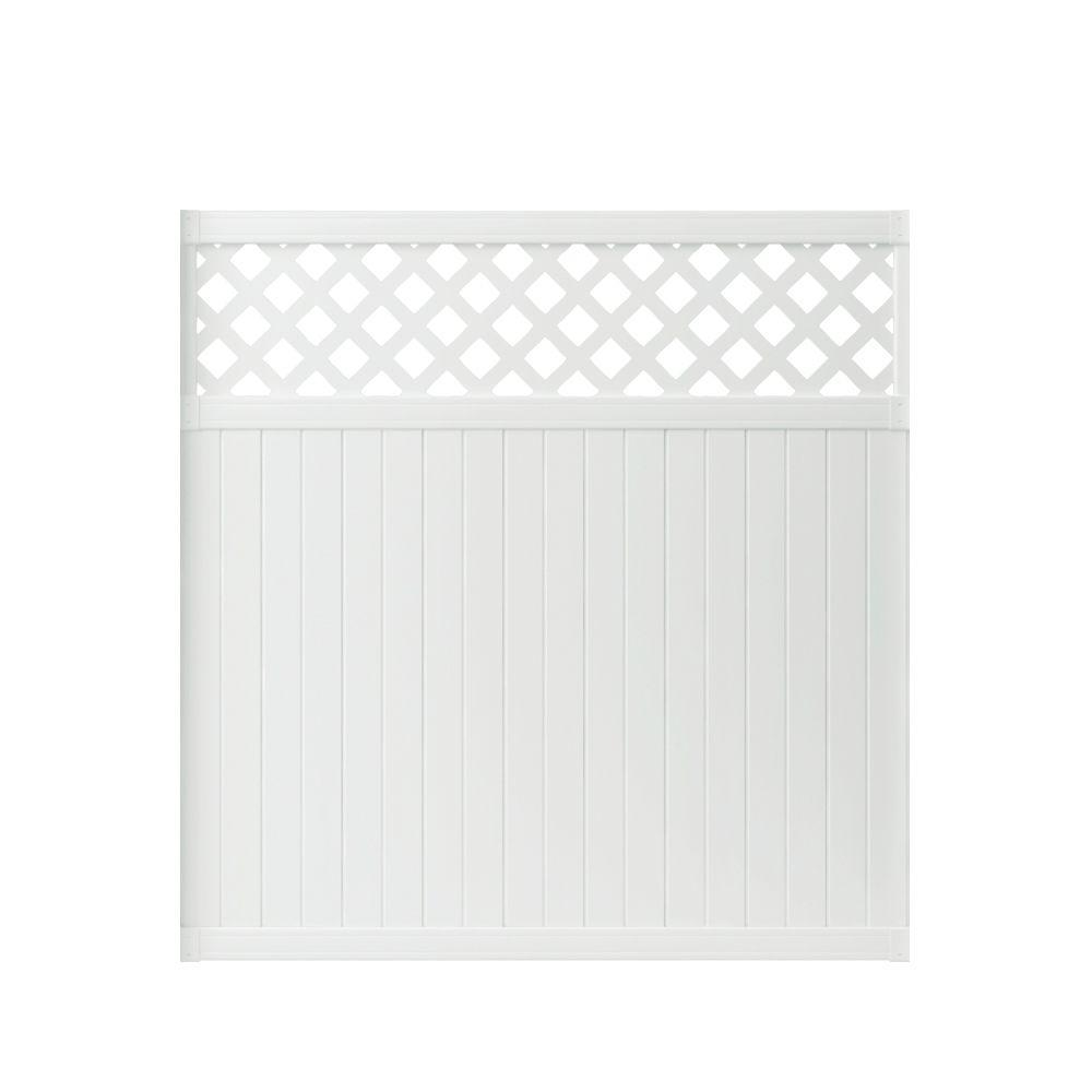 Lewiston 6 ft. H x 6 ft. W White Vinyl Lattice