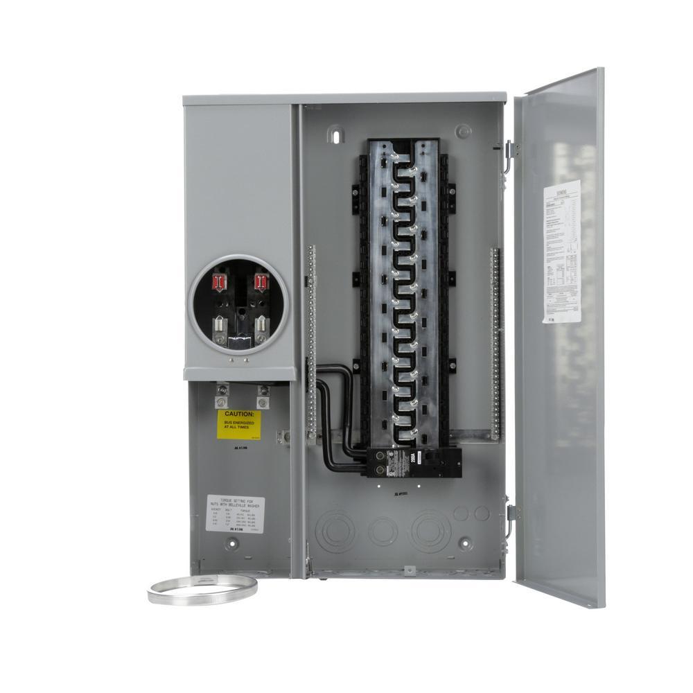 Siemens 200 Amp 40-Space 40-Circuit Outdoor Combination Meter Combo Load Center
