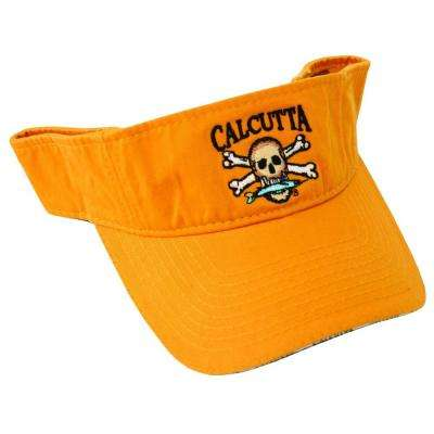 Adjustable Strap Low Profile Visor in Goldenrod with Fade-Resistant Logo