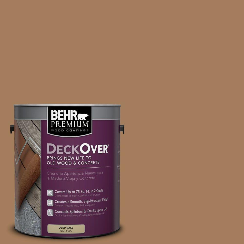 BEHR Premium DeckOver 1 gal. #SC-158 Golden Beige Wood and Concrete Coating