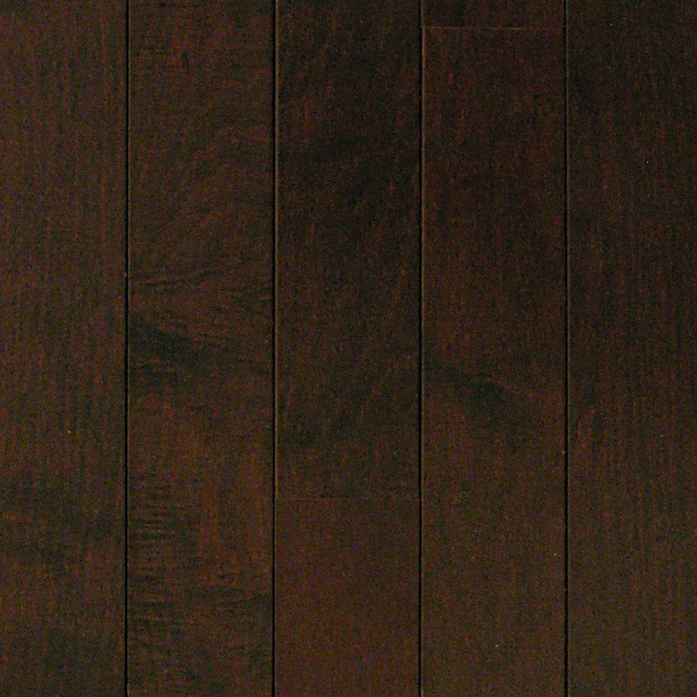 Take Home Sample Maple Chocolate Engineered Hardwood Flooring 5 In X 7