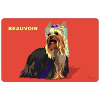 Printed Yorkie 6 17.5 in. x 26.5 in. Mat