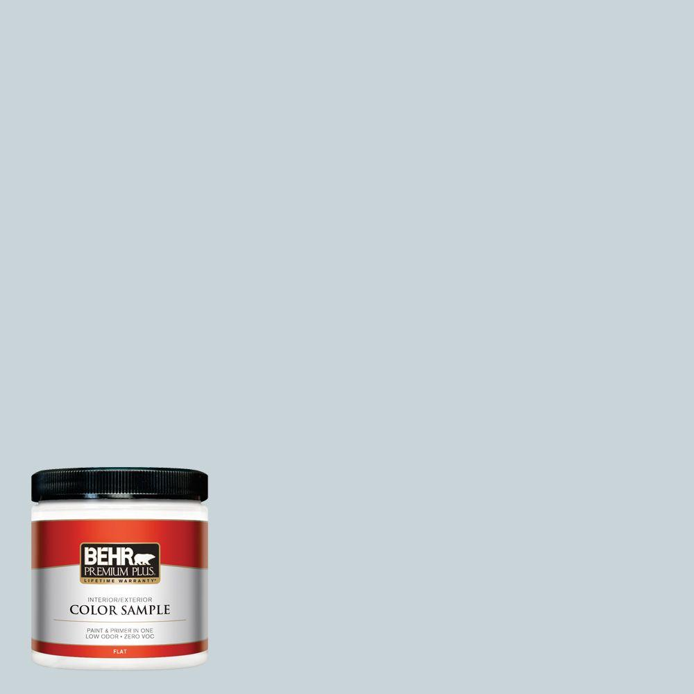 8 oz. #PPL-73 Tranquil Sea Zero VOC Interior/Exterior Paint Sample