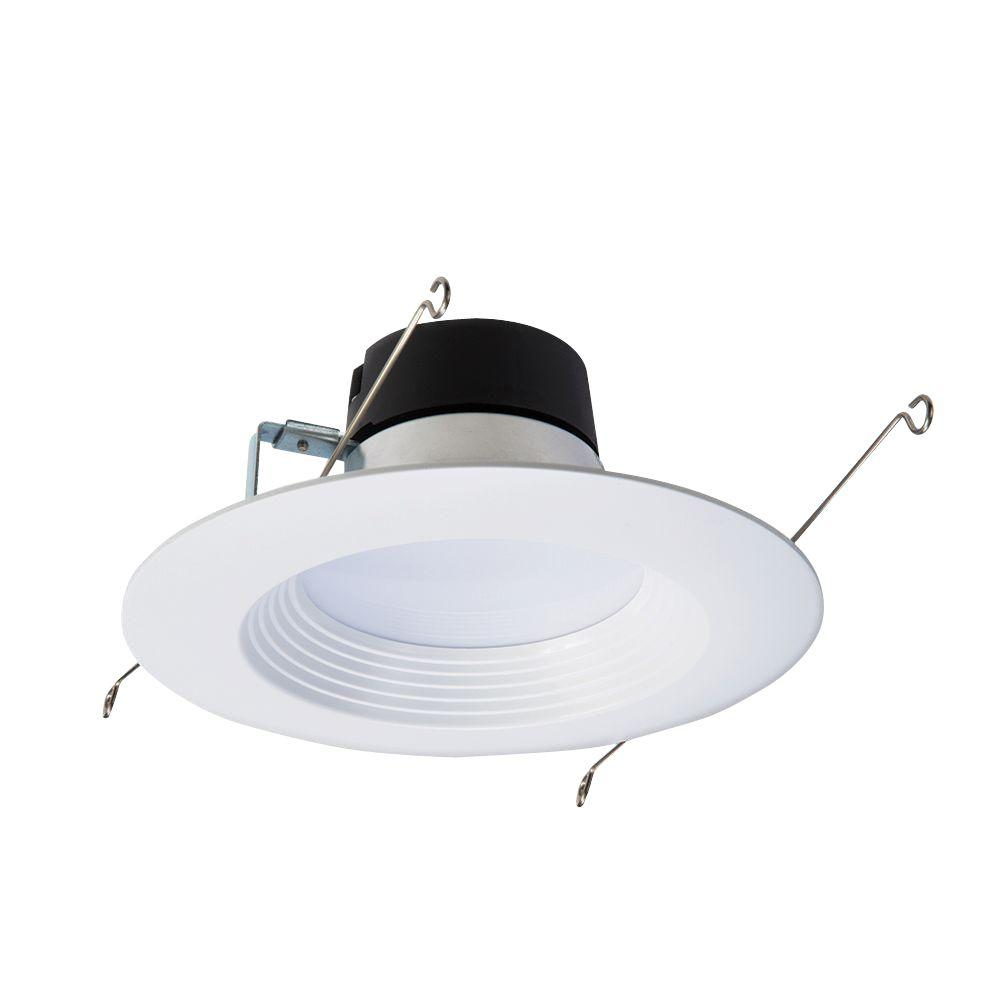 Halo 4 in matte white recessed led 3000k surface disk light with 80 white integrated led recessed ceiling aloadofball Images
