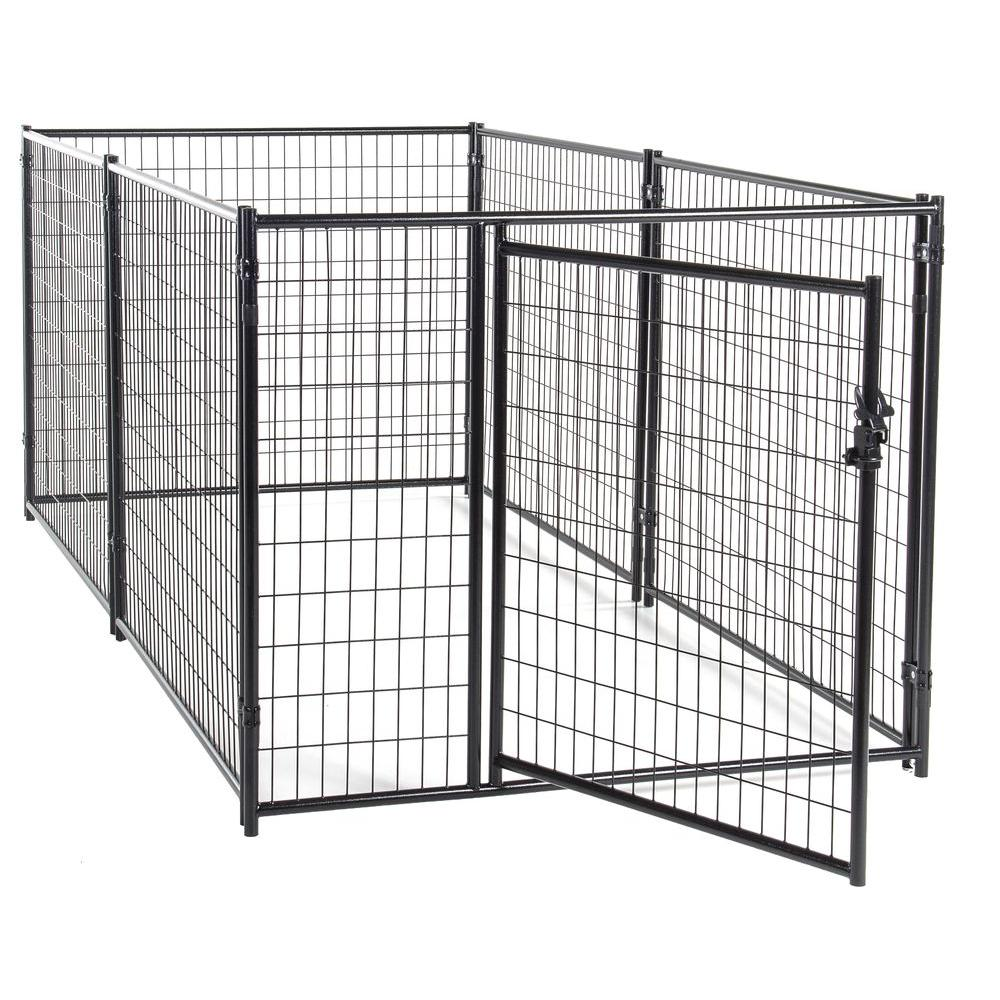 Lucky Dog 4 ft. H x 5 ft. W x 10 ft. L Modular Kennel Welded Wire ...