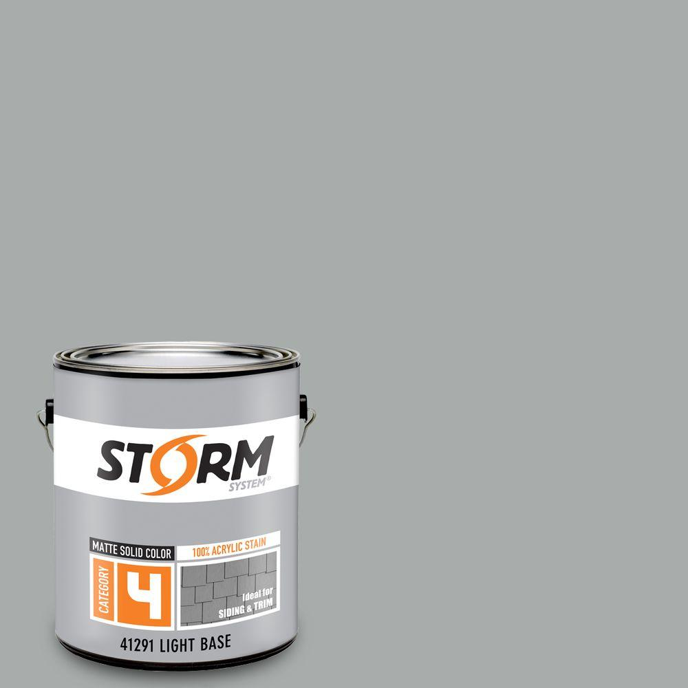 Storm System Category 4 1 gal. Mystic Gray Matte Exterior Wood Siding 100% Acrylic Stain