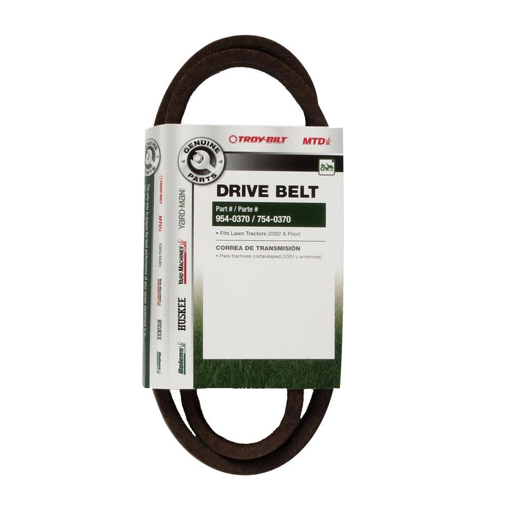 Power Care Drive Belt For Mtd Edger H 9e The Home Depot Lawn Mowers Diagram Assembling And Tractors 2002 Prior 754 0370