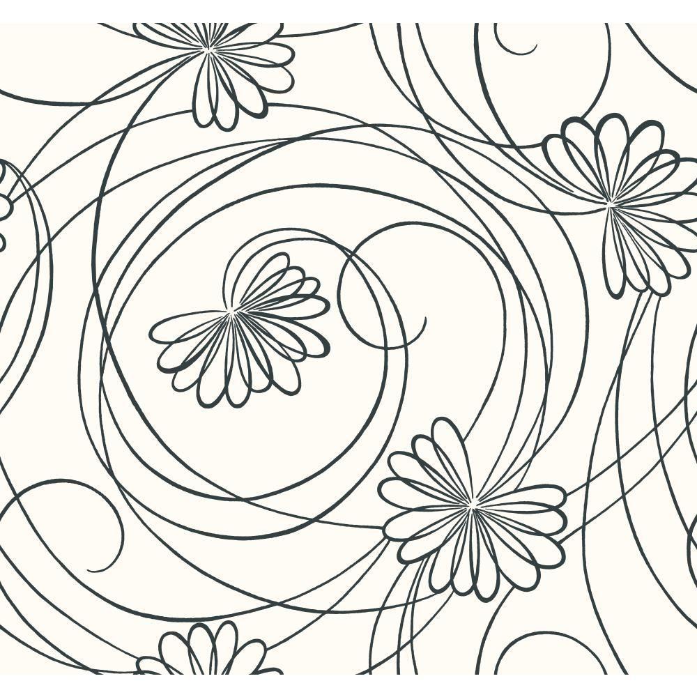 Script Floral Wallpaper