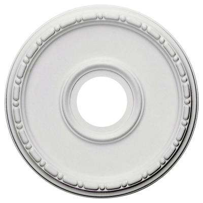 16-1/2 in. OD x 3-7/8 in. ID x 1-1/2 in. P (Fits Canopies up to 5-3/8 in.) Medea Ceiling Medallion