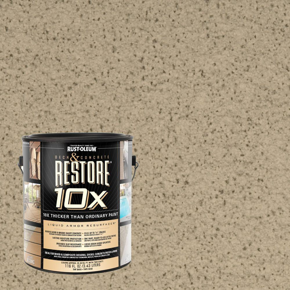 Rust-Oleum Restore 1-gal. Driftwood Deck and Concrete 10X Resurfacer