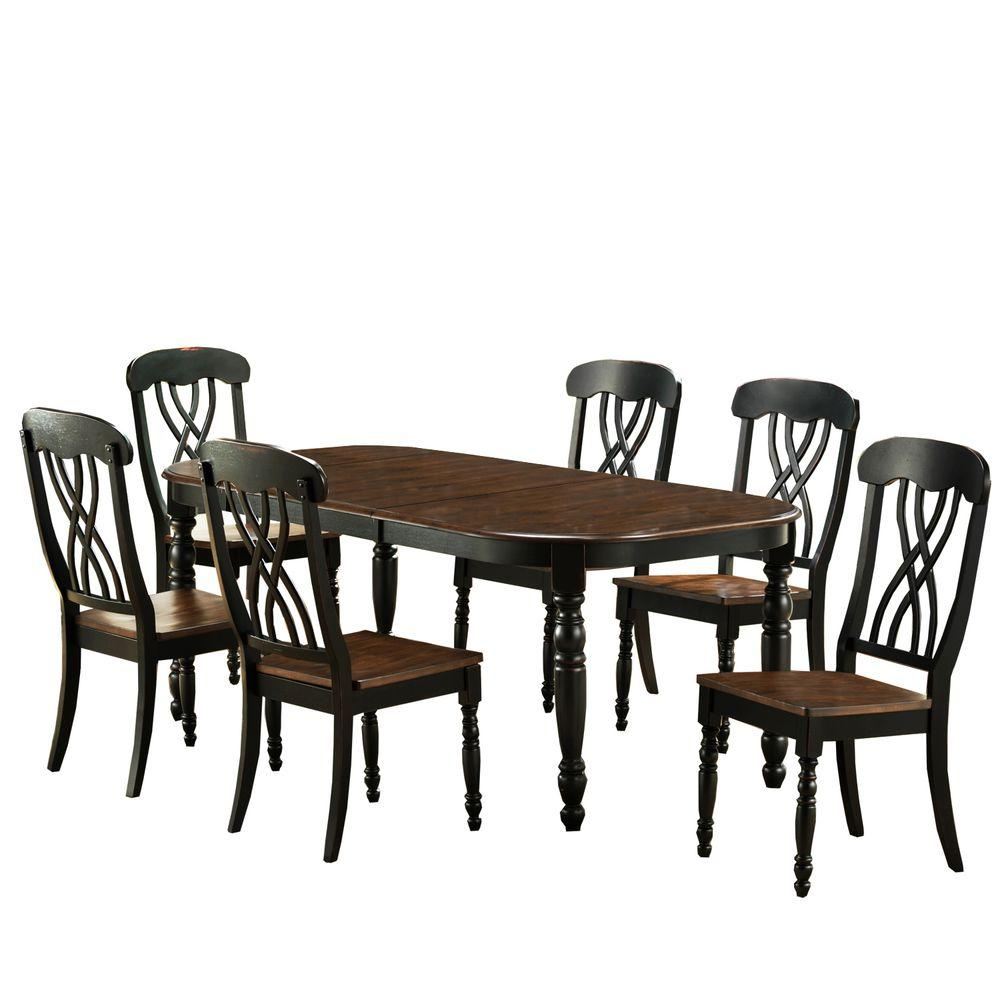 7-Piece Black Dining Set