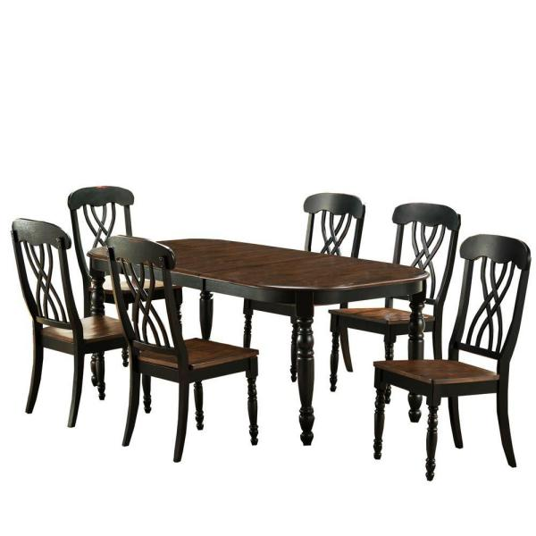 HomeSullivan 7-Piece Black Dining Set 401393BK-78[7PC]