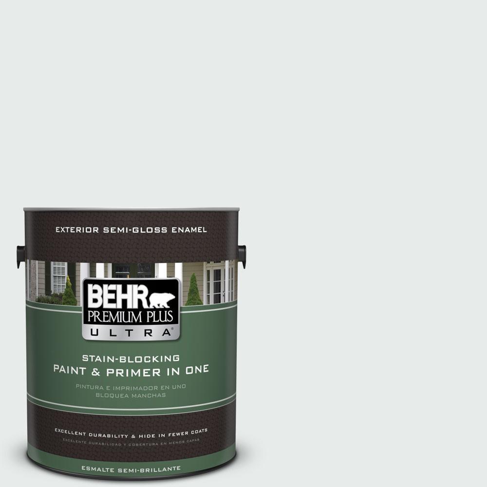1-gal. #BL-W5 Dusting Powder Semi-Gloss Enamel Exterior Paint