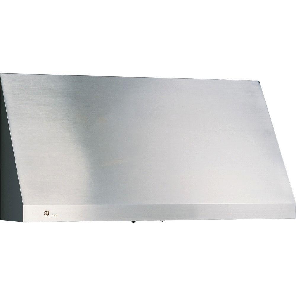 GE Profile 36 in. Designer Range Hood in Stainless Steel