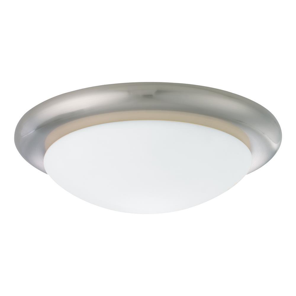 Monte Carlo Brushed Steel Ceiling Fan Light Kit - Monte Carlo Brushed Steel Ceiling Fan Light Kit-MC18BS-B - The
