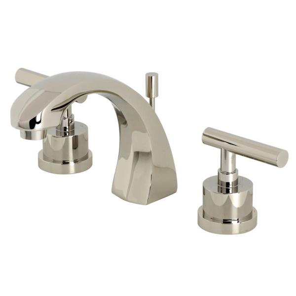 Manhattan 8 in. Widespread 2-Handle Bathroom Faucet in Polished Nickel